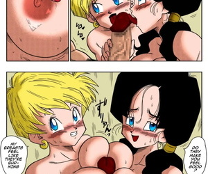 Yamamoto LOVE TRIANGLE Z PART 2 - Takusan Ecchi Shichaou! - LOVE TRIANGLE Z PART 2 - Lets Have Lots of Sex! Dragon Ball Z English Colorized