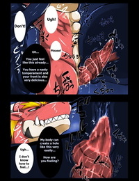 Keito Crimson Dragon Dyed in Black English Colorized Digital