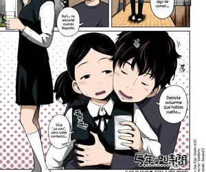 Tsubaki Jushirou 5nen no Ojikan -Hoken no Ojikan ♥ Bangaihen- - Clase de salud ♥ Extra: 5 años después Aimai Diary Spanish Dou-Hen FS Coloreado