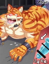 A muscular tiger cuntboy by urakata5x
