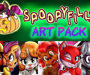Anibaharuthecat Spoopyfilly Manoeuvres Pack My little pony