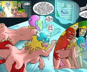 jackthemonkey Doctor Bimboid vs Gemstone Comic Heroes mainstream