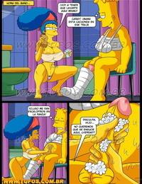 Cuidando al Hijo Accidentado Los Simpsons