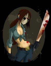 Spooky Waifu - Genderswap Jason Voorhees  Friday The 13th