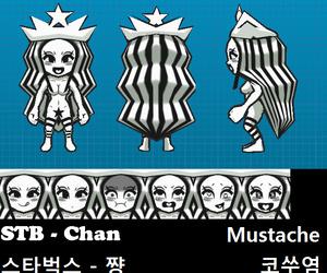 Starbucks Starbucks-chan STB-chan and Wendy Mascots - decoration 5