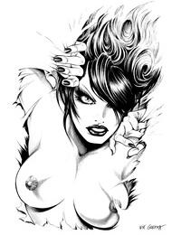 Nik Guerra Dark Divas Pin-Up Collection Textless