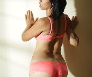 Beautiful Dana Vespoli will take off her business uniform and get creative.