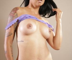 Adult Asian-American piece of baggage Dana Vespoli slips gone see thru lingerie regular
