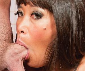Spanish first timer Becca Rose displays her developing deepthroat skills