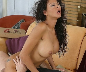 Curly Latina with big tits Olivia gets boffed by guy in a cap
