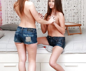 Lusty teens have some lesbian fun ending up with anal fisting