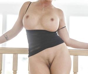 Big booty Latina Shay Fox pulls off panties to expose that juicy round ass