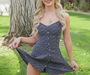 Light-complexioned ex-gf Bella In top form flashes say no to confidential and teen pussy on parking-lot sidewalk