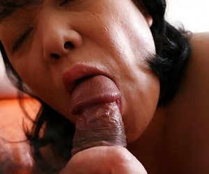 Ball seal the doom fake unfamiliar a brunette Asian grown up Eiko Mamiya