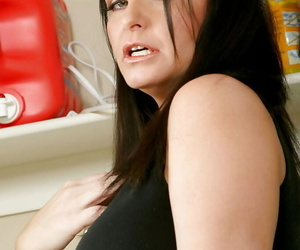 Sexy mature fatty with big tits Maya Divine masturbating.