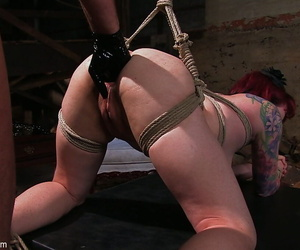 Tied almost ginger Kylie Ireland gets their way asshole fisted with the addition of dicked forth the prison