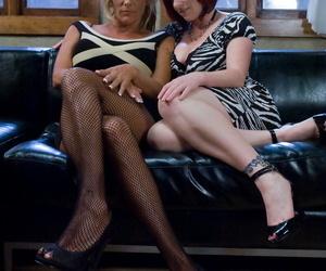 Redhead Kylie Ireland enjoys dominating  will not hear of give someone a thrashing friend Debi Diamond