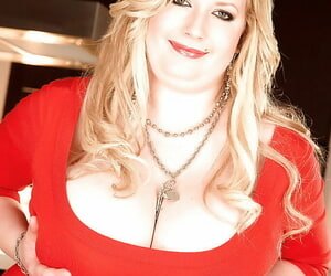 Fat tolerant up peppery midget dress Anna Feuding fondling and squeezing their way big hooters