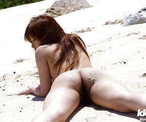 Delicious asian pamper with airless tits Miyu Sugiura posing unadorned alfresco