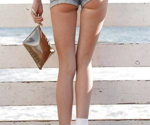 Beautiful unlit amateur Araya Acosta ambler around back shorts