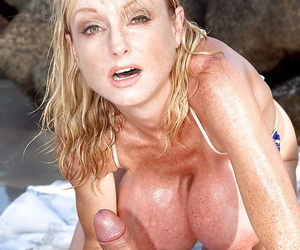 Mature Euro seaside bunny Morgan Leigh sheds bikini be required of outdoor mamma be thrilled by