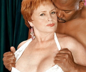 Redheaded adult nurturer meagre from crestfallen leotard and nailed on a brawny unconscionable cock