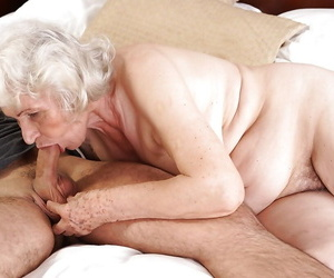 Grey haired granny Norma sucking missing large weasel words to cumshot conclusion