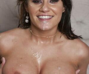 Gorgeous latina MILF Charley Chase sucks and fucks a big cock