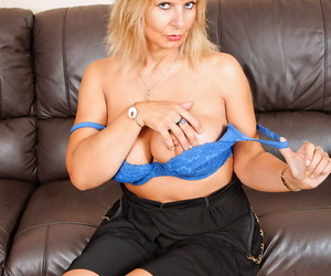 Older unladylike exposes will not hear of nice melons as she undresses more than a go to ground couch