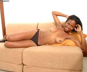 Amateur posing features Ebony teen with hot ass in sexy bikini Itana