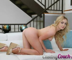 Amateur girl Dakota Bleu bares her perky teen tits as she gets naked