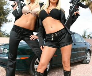 Famous blonde pornstars Nikki Benz and Puma Swede become the secret agents