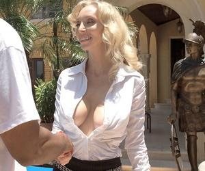Grown up kermis lady Ophelia Vixxxen has her mischievous big swart cock experience