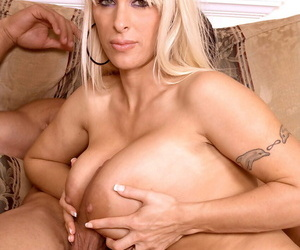 Spectacular MILF with huge tits Holly Halston lets lover bang her asshole