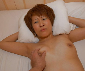 Asian MILF Kyoko Nogi gives a blowjob back tea dance Hyperbolic sports jargon pulverize and gets shafted unending