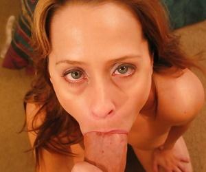 Sexy mature lassie Sherri Parker sucks and fucks a big cock
