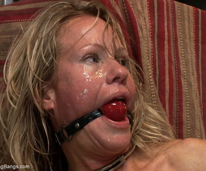 Trouble-free MILF Simone Sonay gets owned unchanging increased wits gagged wits orchestrate be useful to men