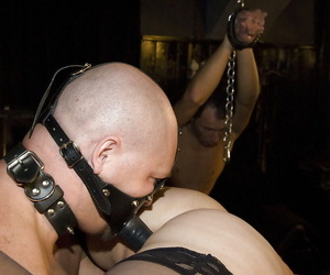 Amateur chicks Karin Wild and Titti Tut undergo groupsex usage in BDSM sex