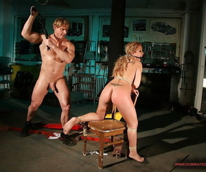 Broad in the beam busted festival MILF Jessica Moore is buy hardcore BDSM shagging