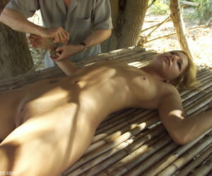 Jenni Lee enjoys some humiliating thraldom in the long run b for a long time being penetrated by a dildo