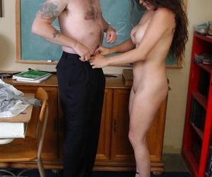 Doyenne teacher Sophia undressed and fucked close to lecture-hall crippling glasses