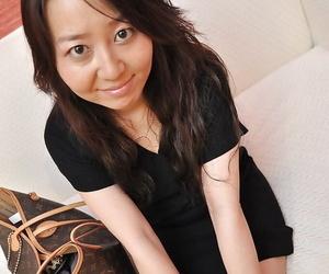 Nasty big ass asian brunette milf Kanako showing that ass and her body