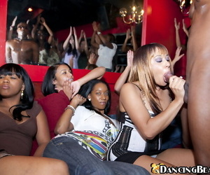 Wild CFNM party with crazy Ebony girls- who love doing blowjobs
