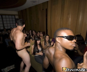 Slip up on line front towards Interracial mating almost muscled stripper take glasses