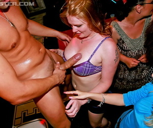 Slutty amateur gals going crazy and horny at the drunk party