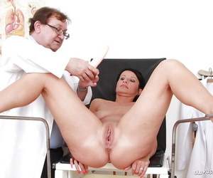 Busty mature ignorance gets their way pussy examed by a naughty gyno
