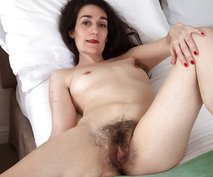 Captivating mature woman Rose Valentina exposes her hairy ass hole
