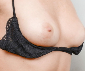Naughty MILF more fishnets and underclothing showcasing say no to goods more close with respect to
