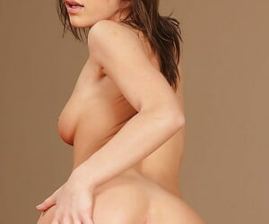 Outstanding brunette Florina Rose is taking off her nice clothes