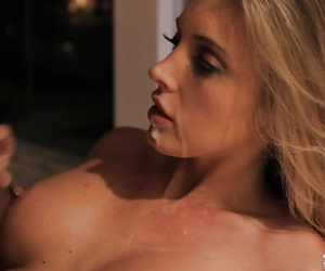 Hardcore beauty Samantha Saint is swallowing succulent gravamen of cum